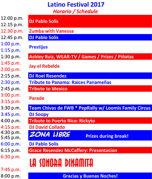 2017 Latino Festival Program