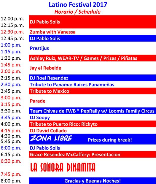 2017 Latino Festival Program
