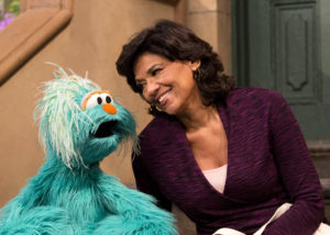Photo: Rosita's Abuela; #4415 - Season 43B/44; Sesame Street Production; Director: Ken Diego; television production photographed: Monday, October 15, 2012; 9:00 AM at Kaufman-Astoria Studios; Astoria, New York; Photograph: © 2012 Richard Termine. PHOTO CREDIT - Richard Termine