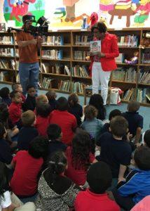 Sonia Manzano reading to students