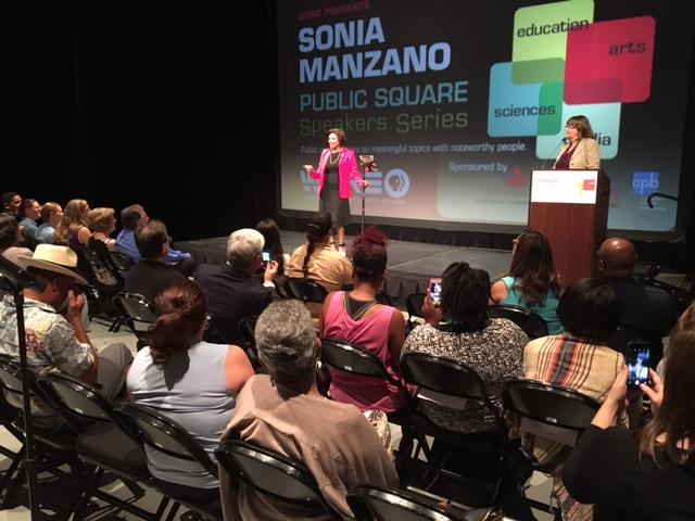 Sonia Manzano speaking
