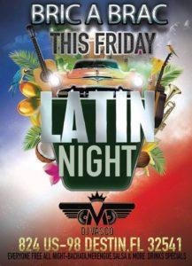 Latin Nights at Bric a Brac in Destin, FL