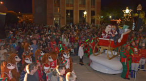 christmas parade crowd