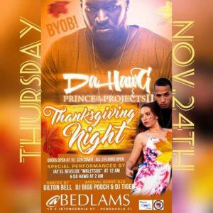"Jay el Revelde ""Mr Lets Go"" and Karina at Belams in Pensacola, Thursday, November 24"