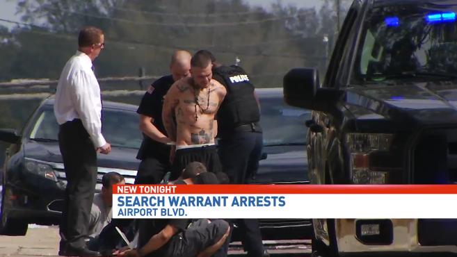 arrests on airport blvd.