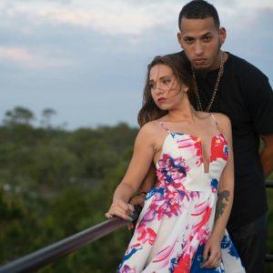 Jay and Karina on a bridge