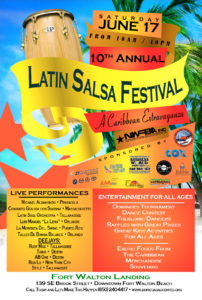 2017 Latin Salsa Beach Festival Flyer