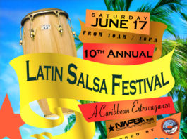 2017 Latin Salsa Beach Festival Flyer
