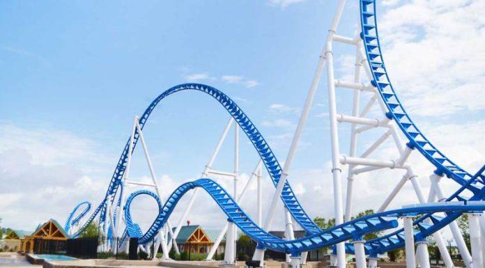 Blue roller coaster