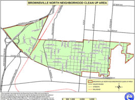 Map of Brownsville area included in clean up event
