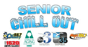 Senior Chill Out logo with sponsor logos