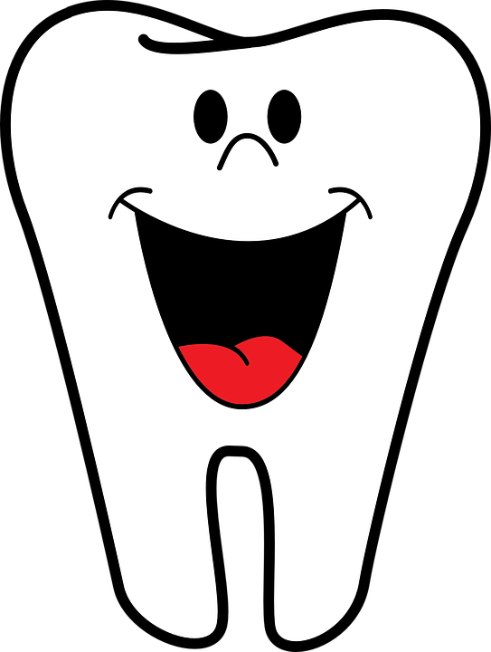 Tooth with smiling face