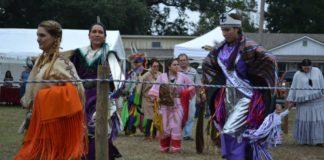 Creek indian dancers dancing