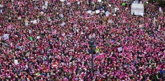 thousands of women marching in Washington DC