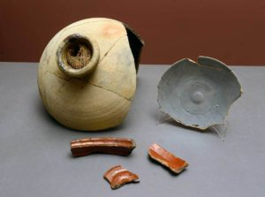 pieces of ancient pottery