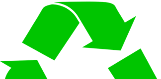 three green arros making recycle symbol
