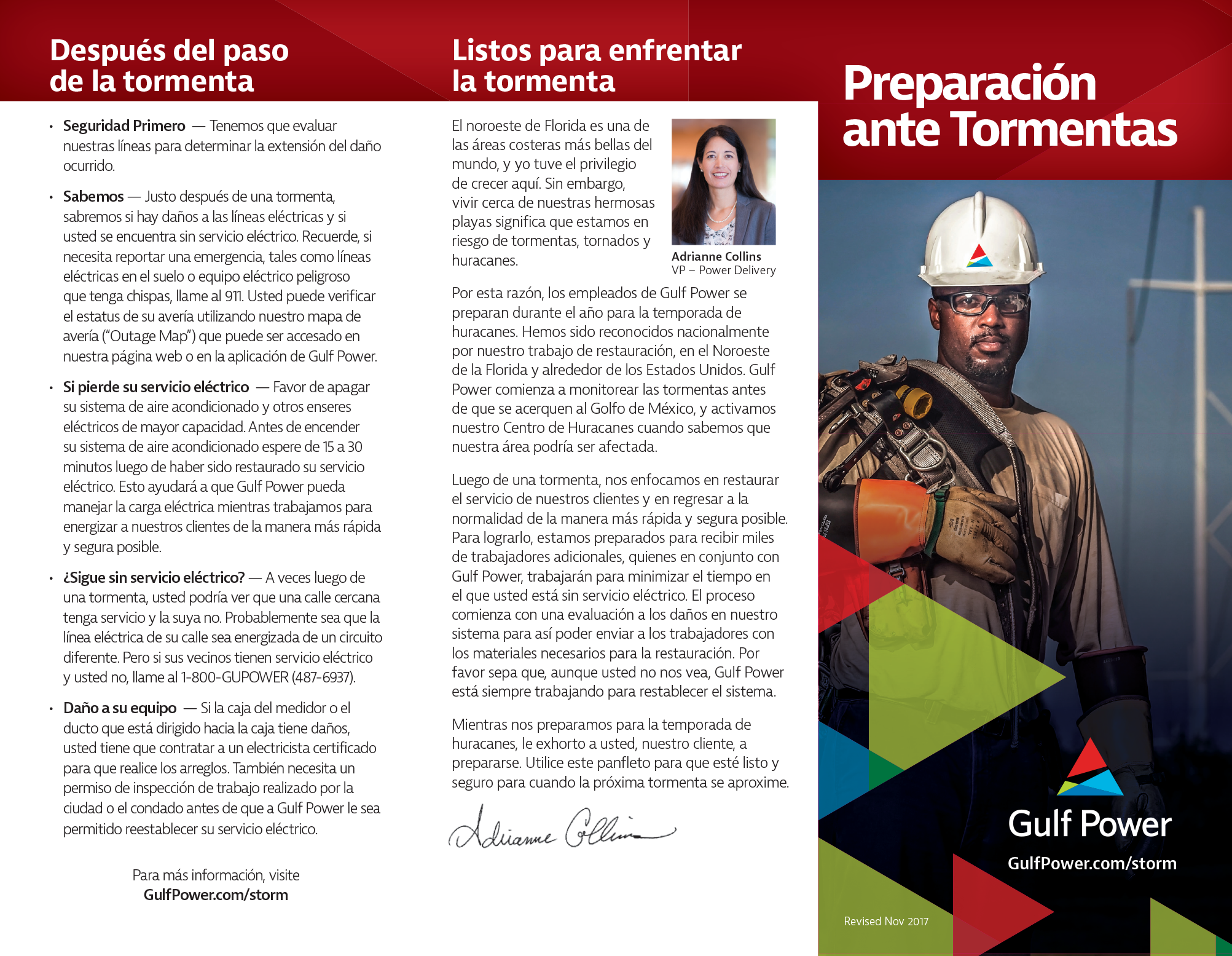 Gulf Power Spanish brochure page 1
