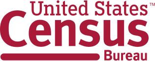 Logo with words: United States Census Bureau