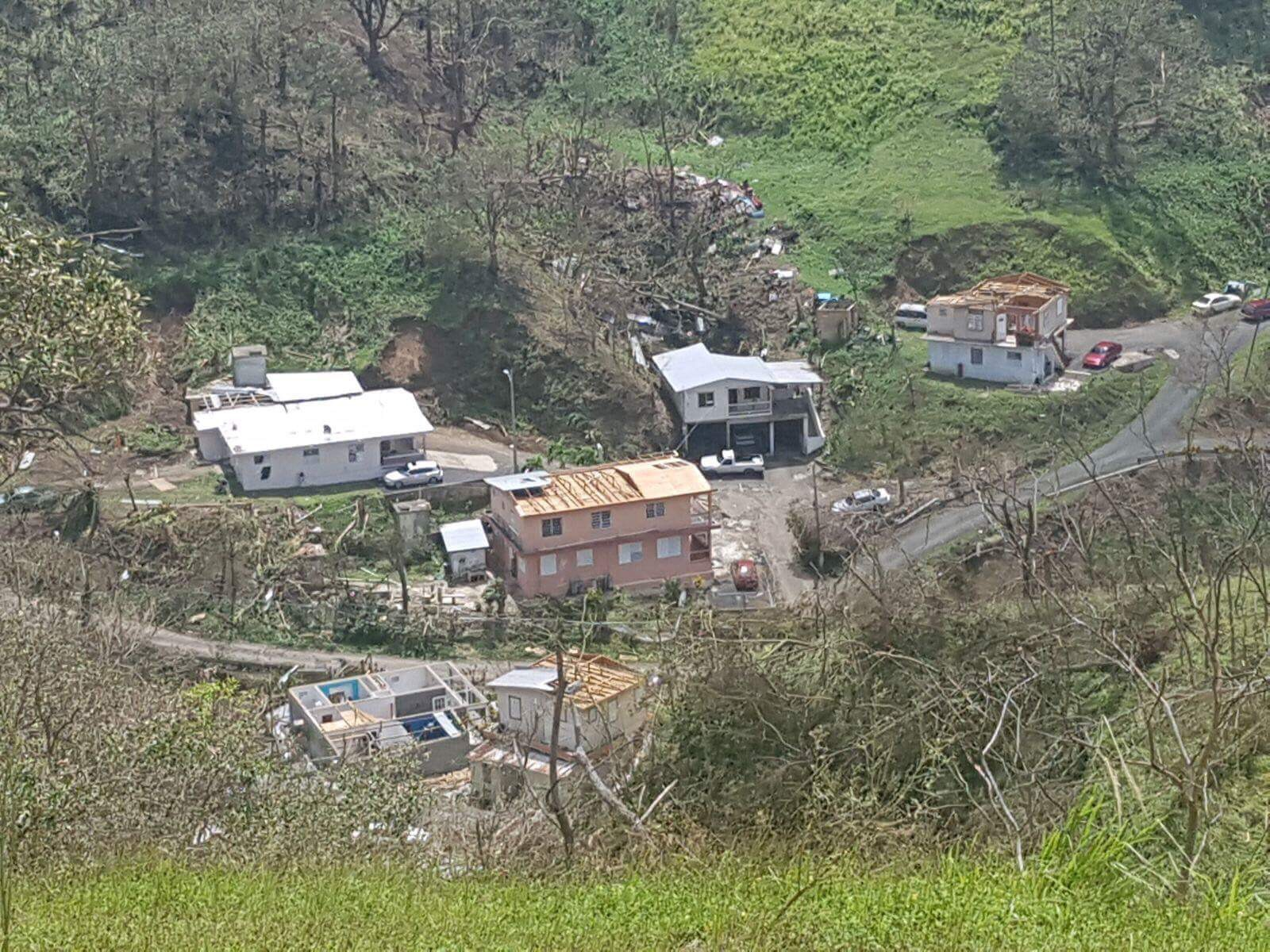 Damaged homes in puerto rico