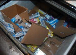 boxes of ice cream