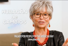 "rita moreno with words ""Huracan de cambios"""