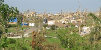 town destruction after tornado