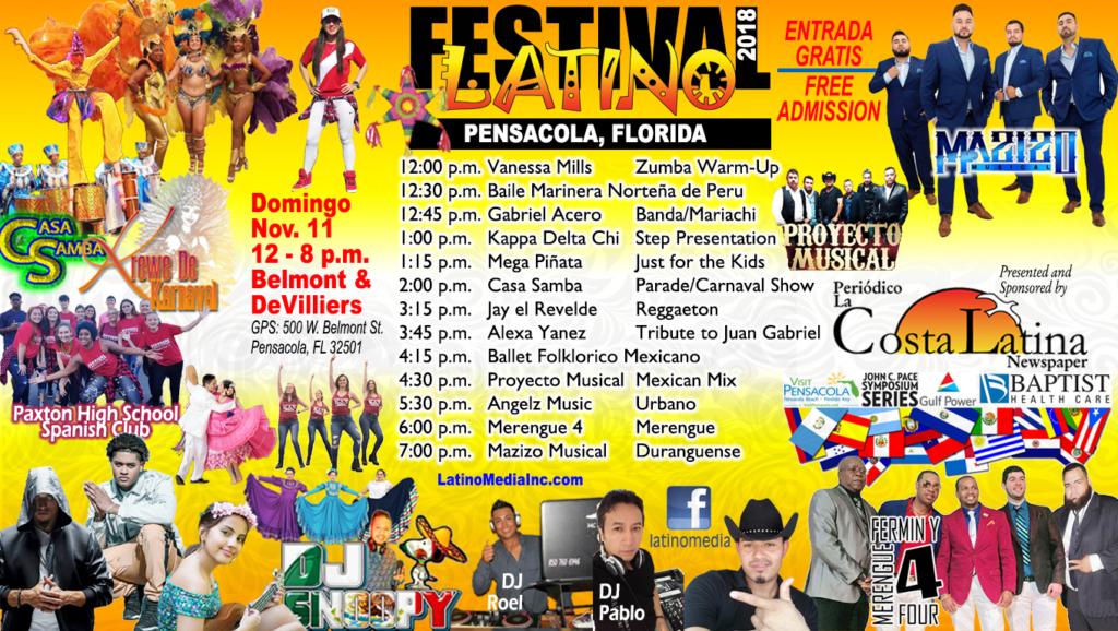 Latino Festival 2018 schedule