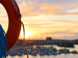 sun over a beach horizon