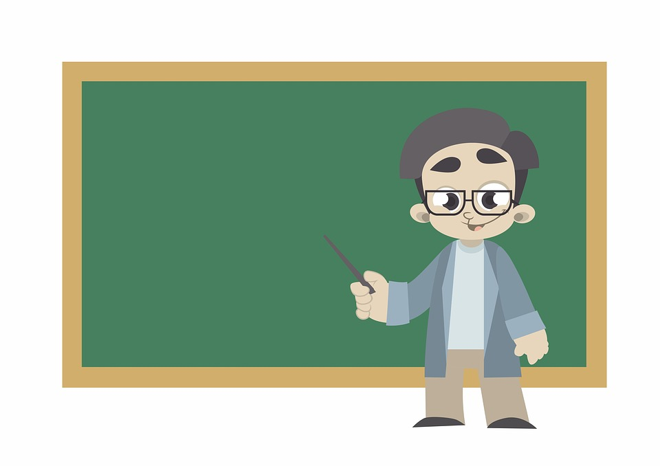 graphic of instructor in classroom