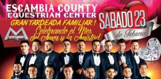 poster of large band el recodo to perform in Pensacola on February 23 2019
