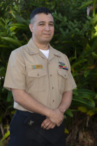 man in navy uniform