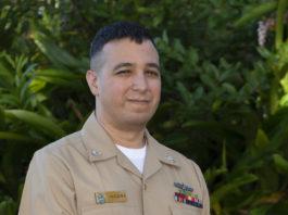 man in navy uniform