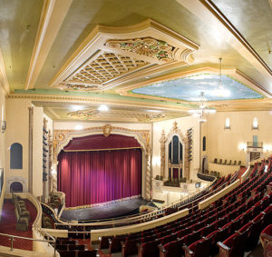interior view of the saenger theater from balcony