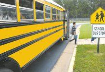 school bus at bus stop