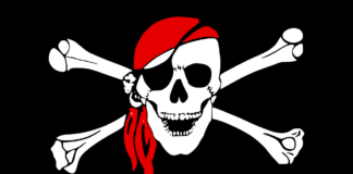 drawing of scull and crossbones
