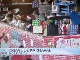 parade float during a parade