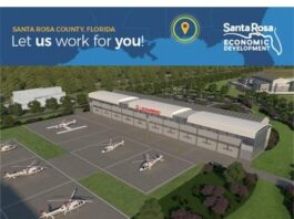 drawing of new helicopter manufacturing facility