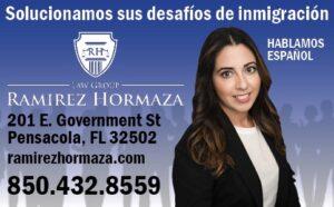 Ad for Ramirez Hormaza law firm