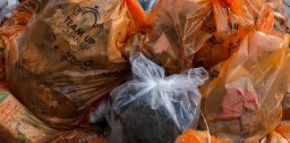 trash bags full of trash