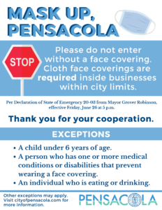 order to use masks in Pensacola