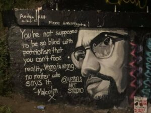 Mural of Malcolm X