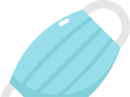 illustration of face mask
