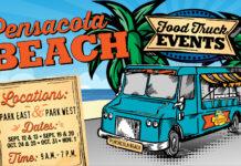 Pensacola Beach Food truck event logo