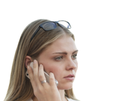 Woman listening to a cell phone