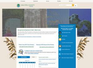 screenshot of Walton County website