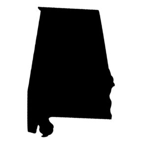 Shape of the state of Alabama