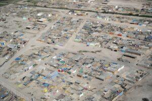 aerial photo of a community in peru