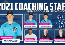 Blue Wahoos 2021 coaching staff