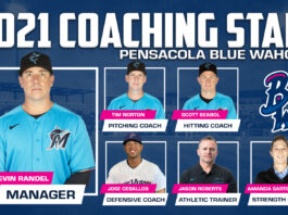 Blue Wahoos 2021 coaching staff