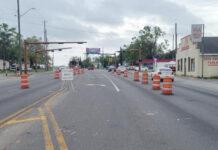 Cervantes Street barricades